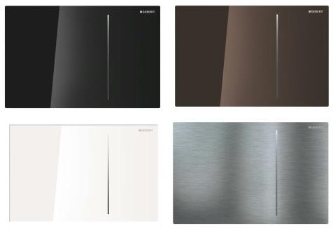 Bekannt Geberit Sigma 70 Betätigungsplatte, Glas schwarz, Drückerplatte QT54