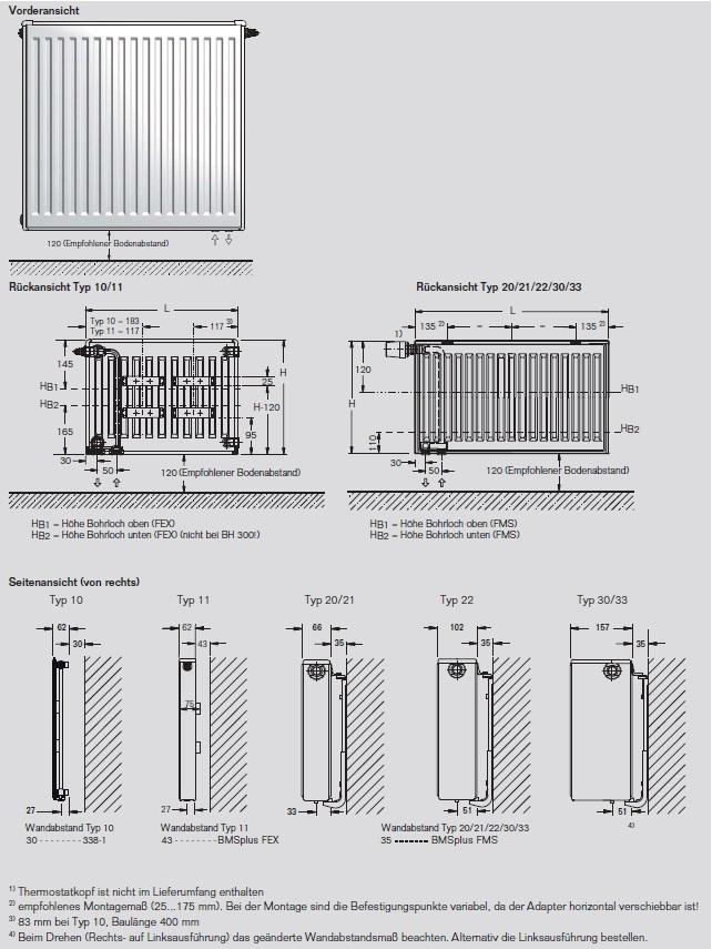buderus ventil vc profil heizk rper bauh he 500 mm typ 11 21 22 33 ausw hlbar ebay. Black Bedroom Furniture Sets. Home Design Ideas