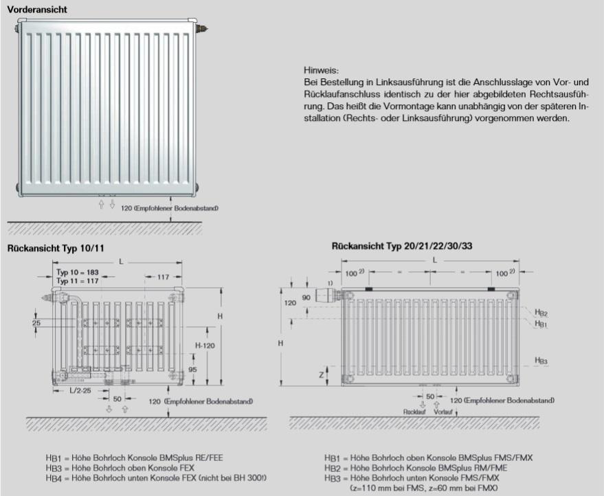 buderus logatrend vcm profil ventil mittenanschluss heizk rper typ 11 21 22 33 ebay. Black Bedroom Furniture Sets. Home Design Ideas