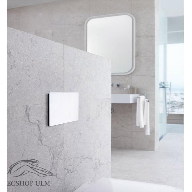 geberit sigma 70 bet tigungsplatte glas weiss dr ckerplatte 115620si1 ebay. Black Bedroom Furniture Sets. Home Design Ideas