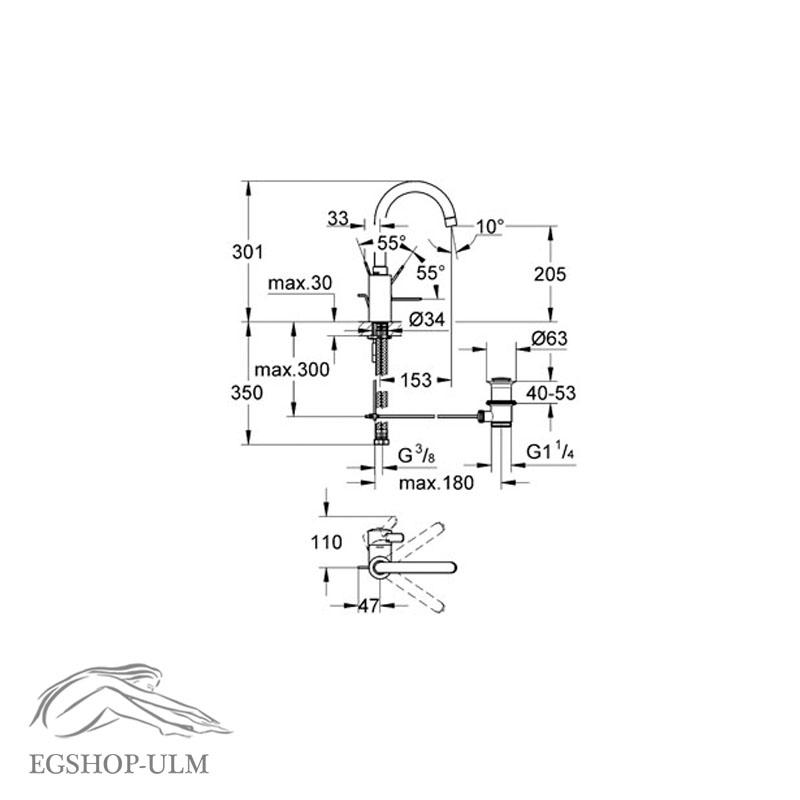 grohe eurosmart cosmopolitan einhand waschtischarmatur 32830000 hoher auslauf ebay. Black Bedroom Furniture Sets. Home Design Ideas
