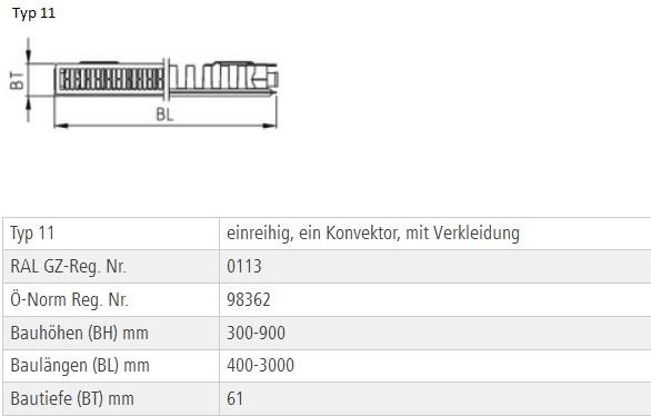 kermi profil kompakt heizk rper typ 33 thermx2 bh 600 x bl. Black Bedroom Furniture Sets. Home Design Ideas