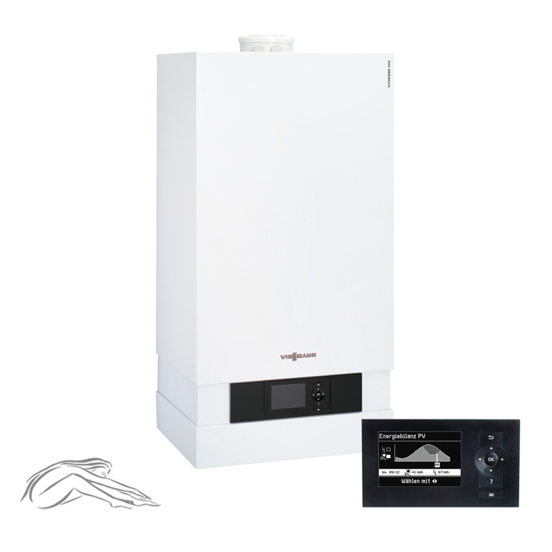 viessmann vitodens 200 w brennwert heizger t 19 kw inkl vitotronic 200 b2ha004 ebay. Black Bedroom Furniture Sets. Home Design Ideas